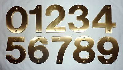 8' Solid Brass House Number - Decorlux Solid Brass House Numbers 5