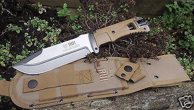 RUI Messer Fahrtenmesser Outdoormesser 440 Stahl Nylonscheide+Feuerstarter 32071