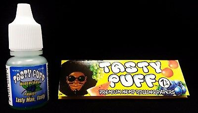 Tasty Puff Drops (Tasty Puff Blueberry Thrill Drops Bottle .25 oz & 1 Pack 1 1/4 Rolling)