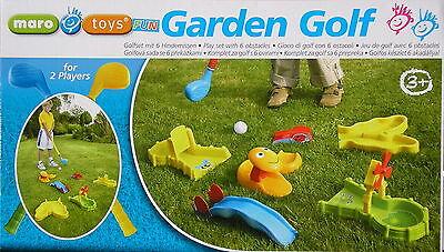 Mini Golf Gartenset mit 6 Hindernissen Kindergolf Golfset Minigolf Maro Toys
