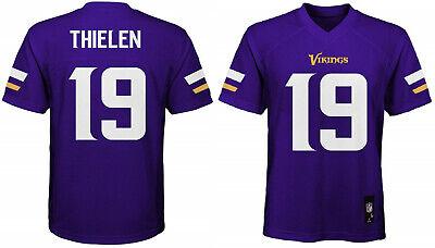 Adam Thielen Minnesota Vikings #19 NFL Home Purple Boys Jers