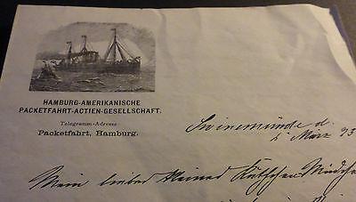 HAPAG Hamburg-Amerikanische Packetfahrt Linie Stettin New York Swinemünde Altona