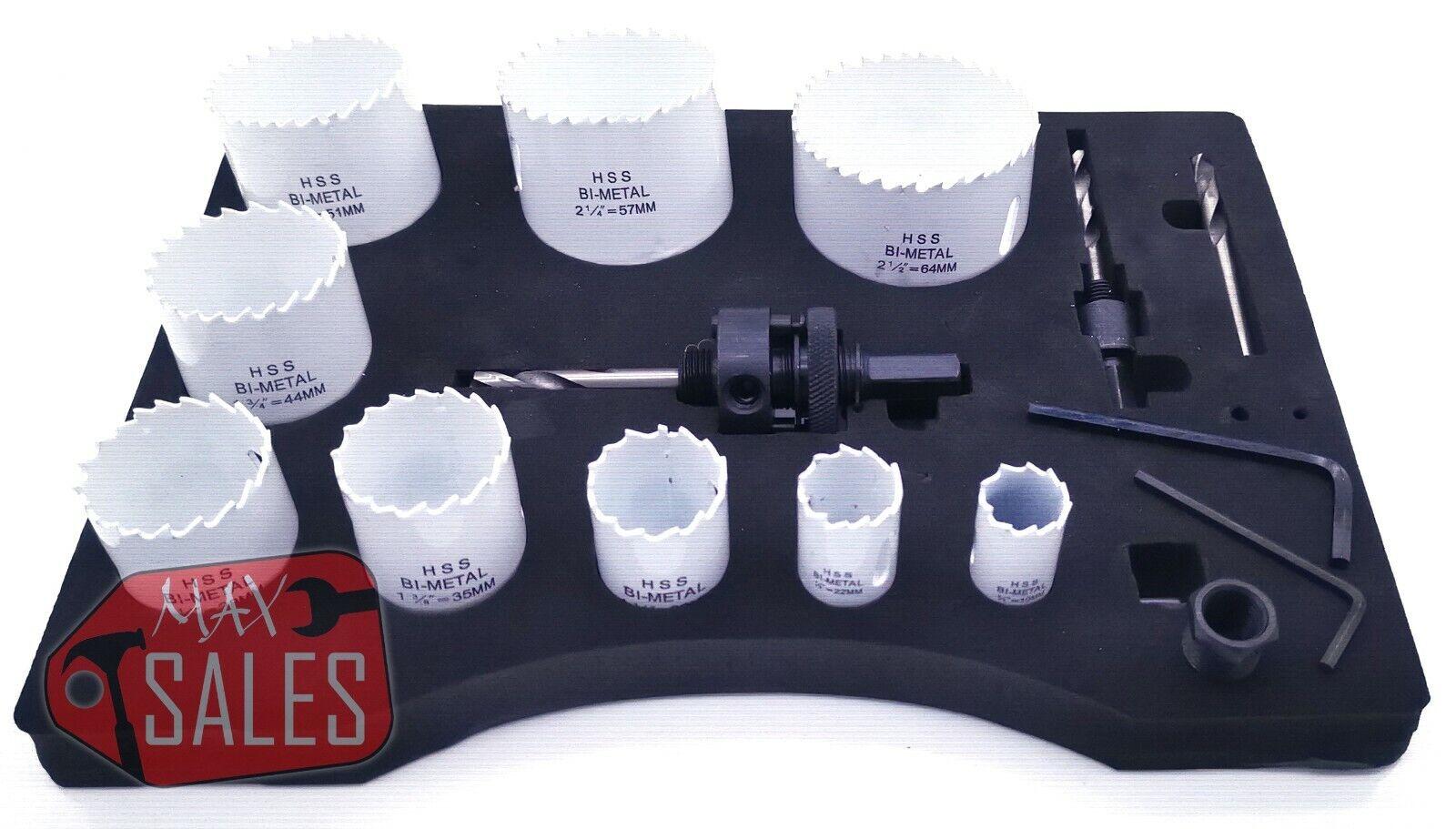 Simonds 9 Piece Plumber/'s Holesaw Assortment Kit Item #36-25000