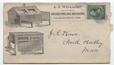 c1889 Bristol CT AF Williams Incubators & Brooders ad cover [y2058]