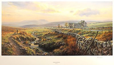 """REX PRESTON """"Evening in the Dales"""" yorkshire LE SIGNED! SIZE:50cm x 83cm NEW"""