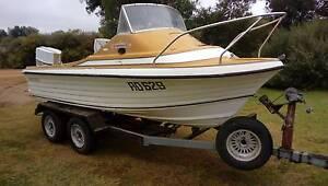 15 ft fiberglass fishing boat Merbein Mildura City Preview
