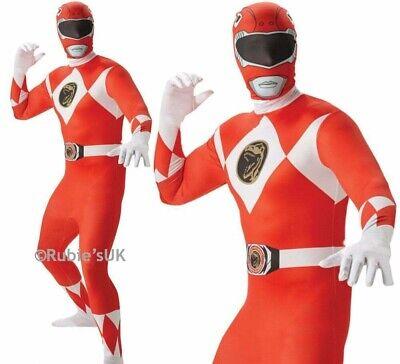 Erwachsene Mighty Morphin Rot Power Ranger Kostüm Kostüm 2nd Skin Anzug - Morphin Kostüm