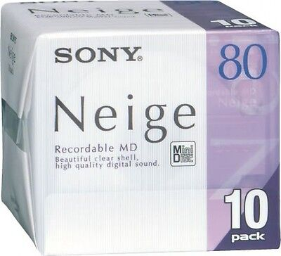 Sony Neige MD80 10 pack Brand new sealed minidisc F/S From Japan