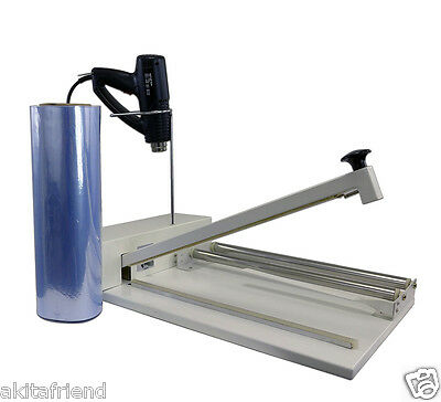 18 Shrink Wrap Machine Heat Sealer System - Heat Gun And 500 Ft. Film Included