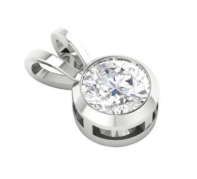 Diamond Pendant 14kt Gold Jewelry (0.75 Ct Round Cut Diamond Mother's Day Jewelry Solitaire Pendant 14Kt Solid)