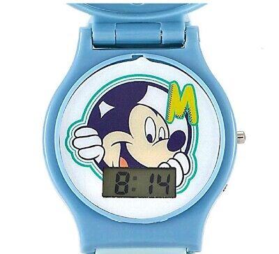 Disney Mickey Mouse Watch Kids Interchangeable Head Blue Digital  ()