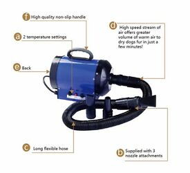 SALE!! 2800W Blue Cat Dog Pet Hair Dryer Blower Heater Low noise. DELIVERY