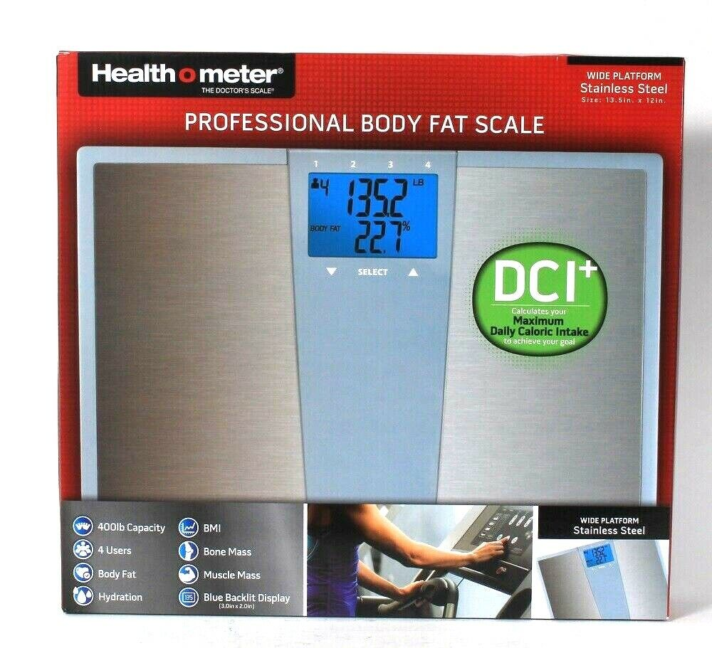 Health o meter Stainless Steel Body Fat Bath Scale with Dail