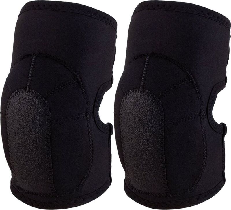 Black Tactical Slip-On Neoprene Elbow Pads Protective Gear