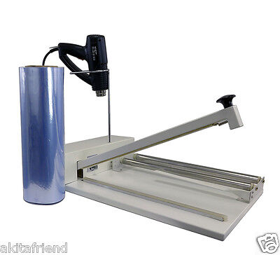 24 Shrink Wrap Machine Heat Sealer System - Heat Gun And 500 Ft. Film Included