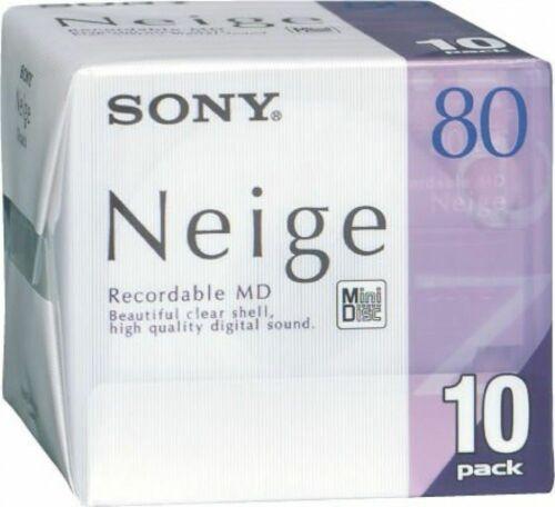 Sony Neige MD80 Mini Disc 10 pack Brand new sealed minidisc