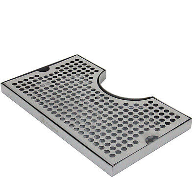 12 X 7 Stainless Kegerator Beer Drip Tray With Cut Out No Drain