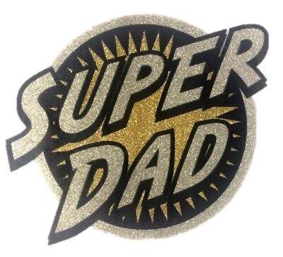 Super Dad Heat Transfer Funny Iron On Applique Patch Crest Costume Accessories - Super Dad Costume