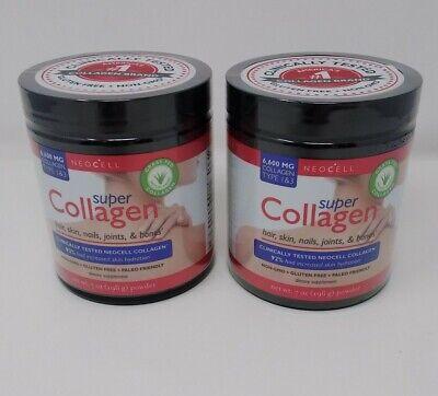 Super Collagen Type 1 & 3 Powder, Neocell Laboratories, 7 oz 2 pack exp-11/21