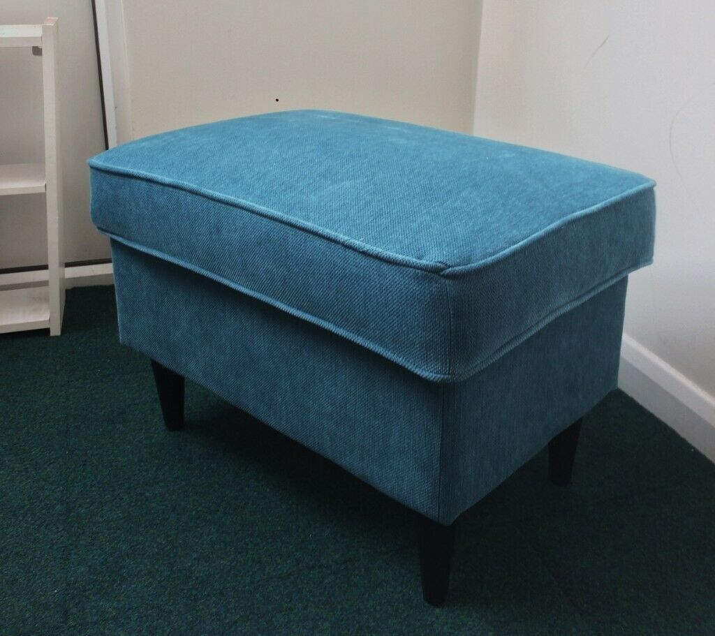 Phenomenal Footstool With Storage From Ikea Strandmon In Teal Grey Colour In Westminster London Gumtree Theyellowbook Wood Chair Design Ideas Theyellowbookinfo