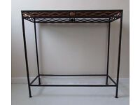 Breakfast bar style Metal table art studio boutique French table unusual style occasional table