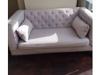 PRICE REDUCED! 2 seater Flynn sofa from MADE in persian grey