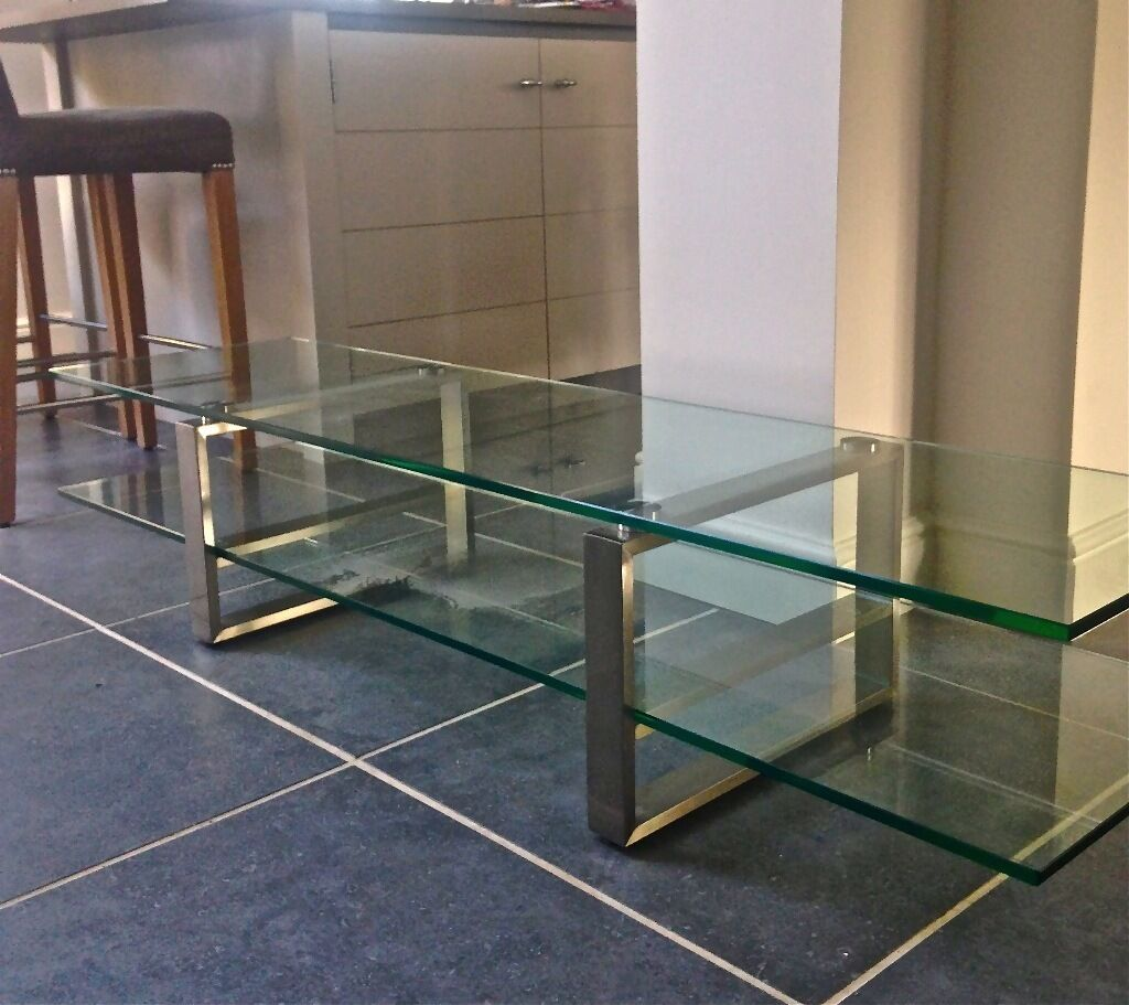 Solero Glass TV table stand in Bradwell Norfolk