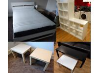 Moving sale Bed+Matress / Side tables / Coffee Tables