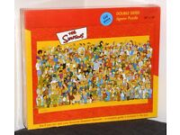 """The Simpsons 550 Piece Double Sided Jigsaw Puzzle 24 X 18"""" (Brand New, Sealed & Unopened)"""