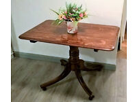 REDUCED ** Solid oak 2 seater table