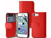 iPhone 5/5s/5g Red Wallet Case (New)