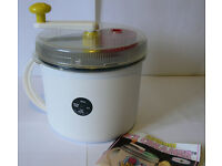 Ice Cream Maker, Sorbet and Frozen Cocktails, Nordic Ware Supremer Hand Crank, As New