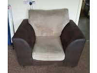 Brown and cream chair