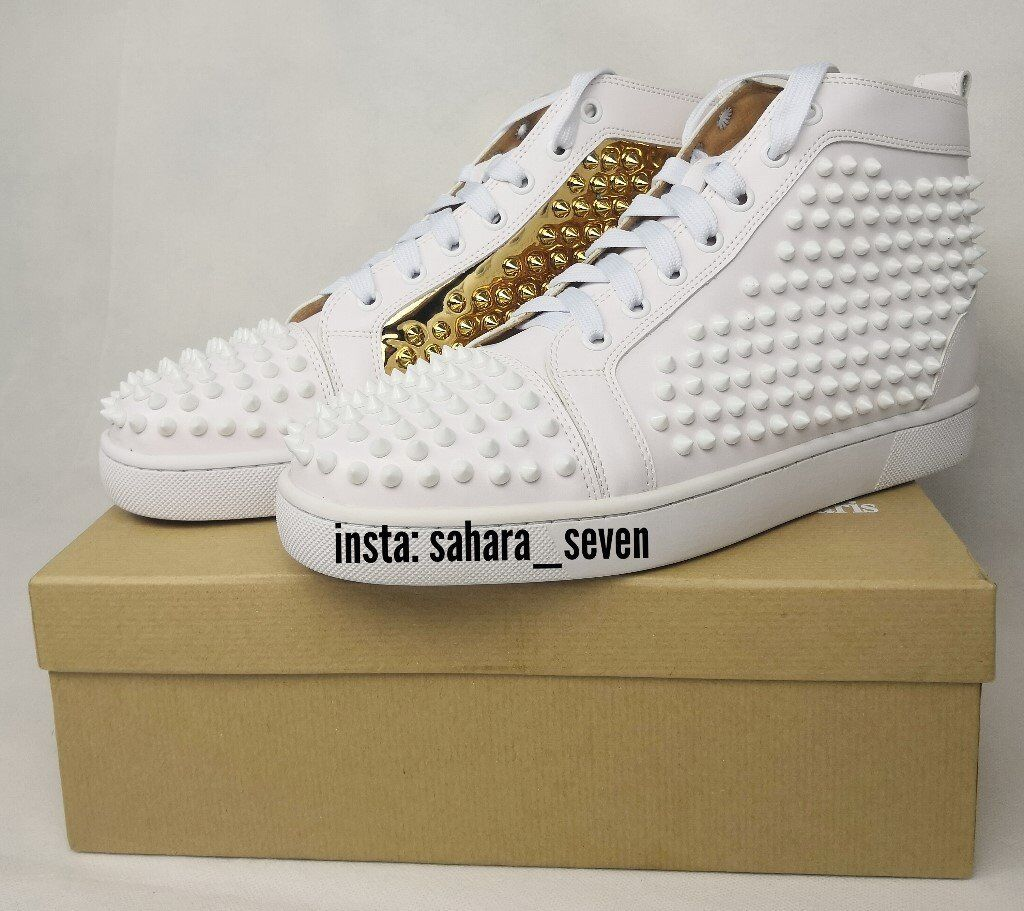 wholesale dealer 64326 fc4c7 Mens Christian Louboutin Spikes White and Gold 2018 Edition £120 Shoes  Spike Boots Red Sole | in Hammersmith, London | Gumtree