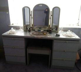 Grey Solid Bedroom Suite