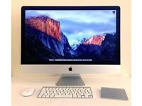 """Apple iMac 27"""" 2013 - 3.2GHz i5 - 8GB RAM - 1TB HDD with keyboard, mouse & trackpad"""