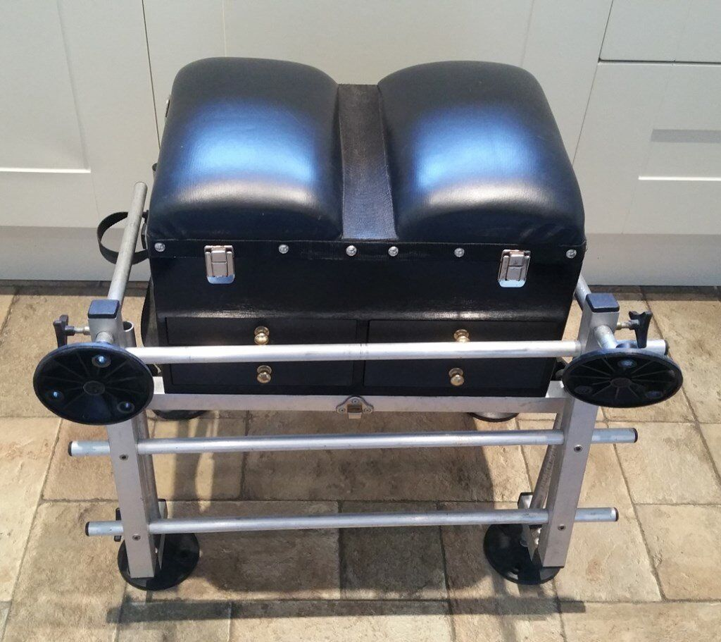 Little gem match seat box with foot rest pole fishing in