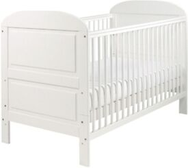 (AS NEW) SOLID PINE NURSERY COT BED Baby/Child/Toddler Nursery Furniture