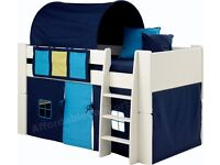 Childrens Single Bed with Tent and Storage