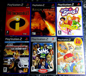 PS2 Games - Beach Bandits Totally Spies The Incredibles The SIMS Reign of Fire Midnight Club3