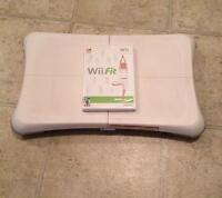Wii Fit game and balance board-like new