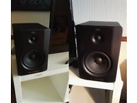 M-Audio BX-5 D2 Stereo Monitors / Speakers + Optical and Coax Digital to Analogue Audio Converter