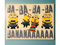 Lovely Large Minions Canvas Picture. 80 x 60cm. Excellent Condition.