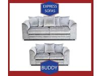 👦New 2 Seater £169 3S £195 3+2 £295 Corner Sofa £295-Crushed Velvet Jumbo Cord Brand 📸D3