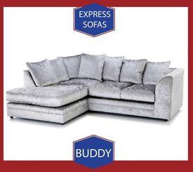 😽New 2 Seater £169 3S £195 3+2 £295 Corner Sofa £295-Crushed Velvet Jumbo Cord Brand 🝏C8