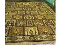 Antique golden Persian rug