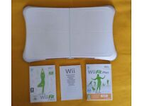 Nintnedo Wii Fit Board with Wii Fit Plus games and usb charging battery pack