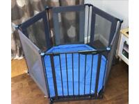 Lindam Safe & Secure Fabric Playpen / Room Divider, cost £95
