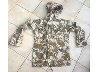 British army windproof jacket in desert DPM