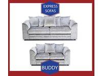 🏭New 2 Seater £169 3S £195 3+2 £295 Corner Sofa £295-Crushed Velvet Jumbo Cord Brand 🠃K1